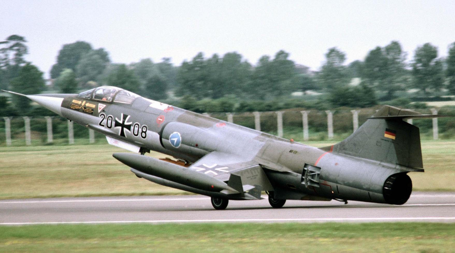 Обои Lockheed, истребитель-перехватчик, рисунок, starfighter, F-104. Авиация foto 18